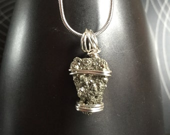 Iron Pyrite 925 Sterling Necklace