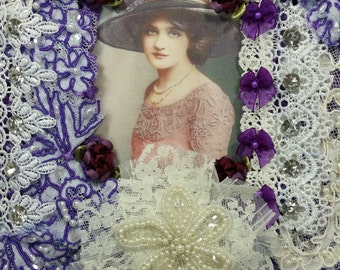 1/2 OFF Clearance Price - Virgina Shabby Victorian Wall Hanging