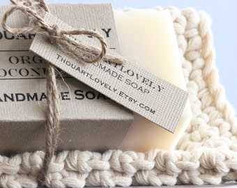 Soap and Washcloth GiftSet|Chunky Handmade|Natural