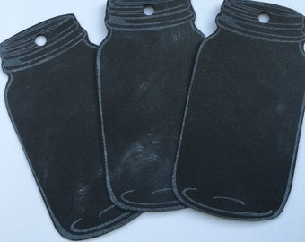 Chalkboard style Mason Jar Gift Tags Party favours canning lables food gift tags