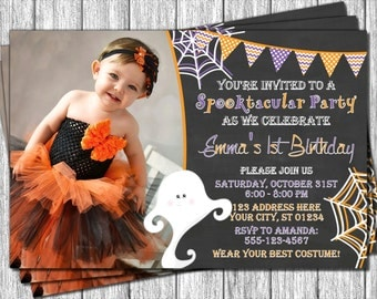 Halloween Birthday Invitation - Halloween Invitation - Costume Party Invitations