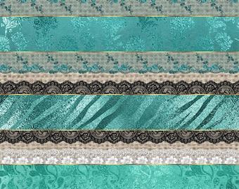 White lace clipart vintage lace borders clip art scrapbook for Border lace glam