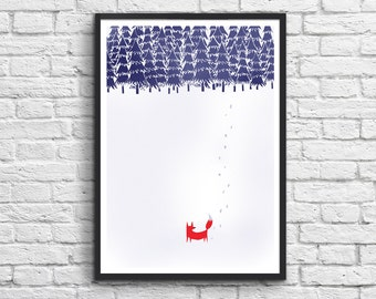 Art-Poster 50 x 70 cm - Fox - Lost in the Forest
