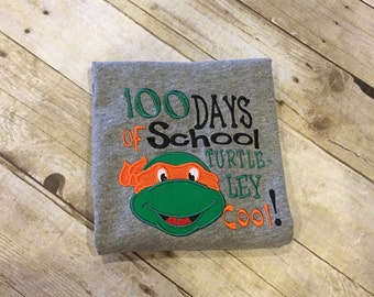 100 Days of school shirt; turtle; short or long sleeve
