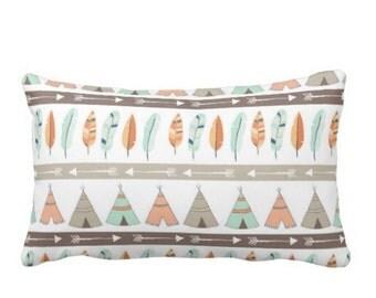 Tepee Pillow - Lumbar Pillow - Woodland Nursery - Nursery Decor - Baby Shower Gift