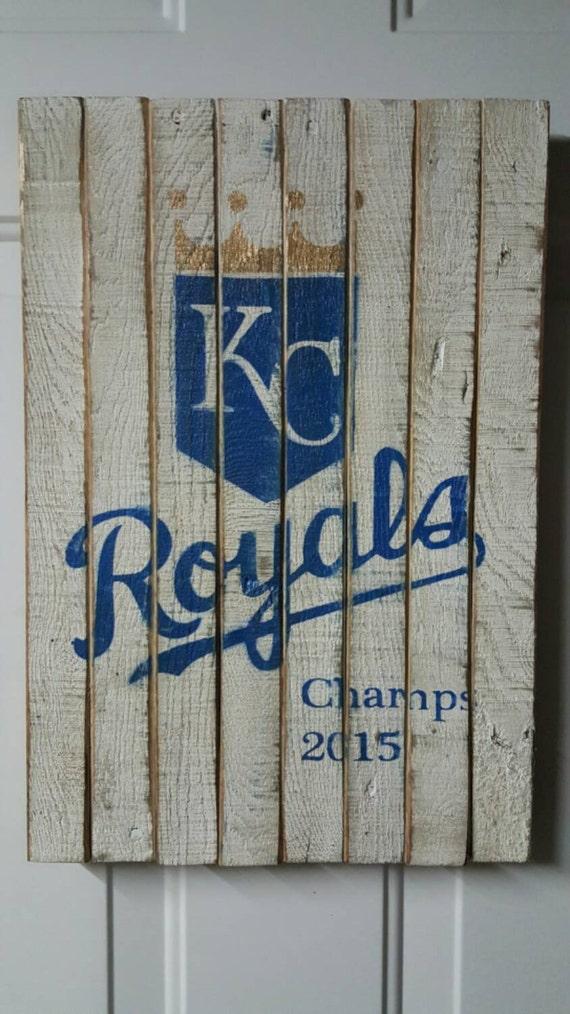 Pallet Wood KC Kansas City Royals Sign Baseball World Series 12