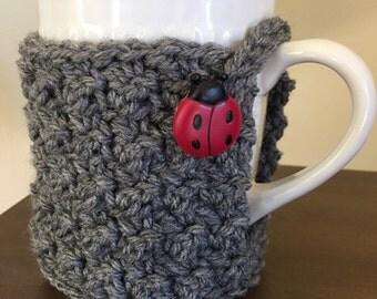 Ladybug Cozy Mug Sweater | Coffee | Tea | Cocoa | Cider