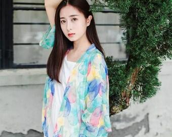 Summer Love-Chiffon flower coat