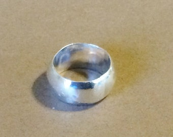 Size 6 Solid Sterling Silver Wide Band Ring