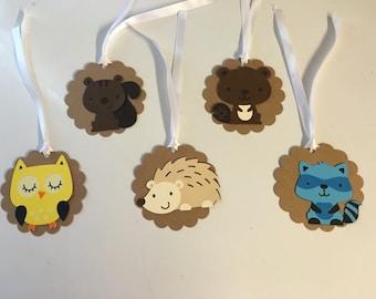 Set of 10 Woodland Animal Gift Tags
