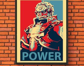 """Ganondorf - """"Power"""" Semi-Gloss Print"""