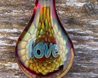 Custom Hand Blown Glass Pendant