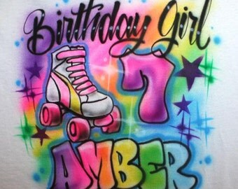 Personalized Roller Skate Birthday Party T Shirt, Roller Skating Party, Skate Party, Birthday t shirt, Glow party, Skate Birthday, Girls