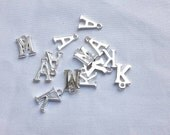 Add an initial personalise an order add a letter letter charm