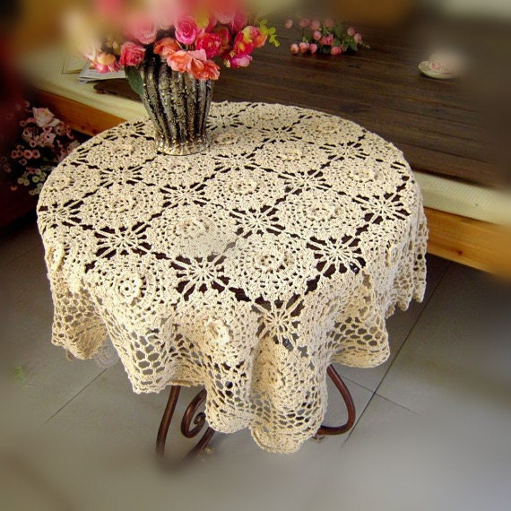 Items similar to made to order vintage style 43x43 for Coffee table cover ideas