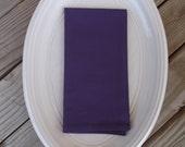 Regal purple fabric napkins, cotton napkins, handmade napkins, set of 4