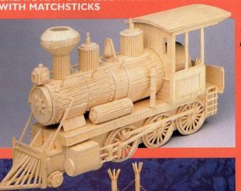WESTERN LOCO Matchstick Model Craft Kit, Brand New