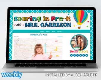 Premade Weebly Template Teacher Blog Classroom Lessons - Mrs. Garrison