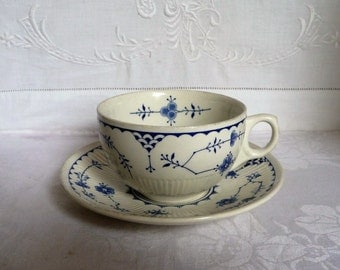 Antique Furnivals Denmark Tea Cup and Saucer