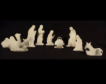 Nativity Set - (Rust or White Patina Steel)