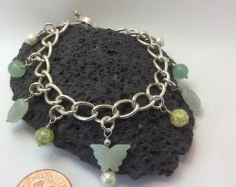 aventurine gemstone charm bracelet