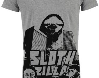 SLOTHzilla - organic - handmade - t-shirt for men - sloth
