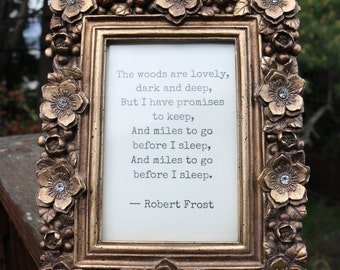 Items Similar To Quote By Robert Frost Printed On Recycled
