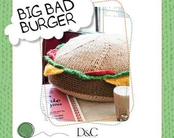 Big Bad Burger Knitting Pattern Download 803217