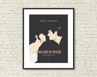 500 DAYS OF SUMMER - Minimalist Posters, Movie Posters, Zooey Deschanel, Joseph Gordon-Levitt, Alternative Poster, Movie Quote Poster