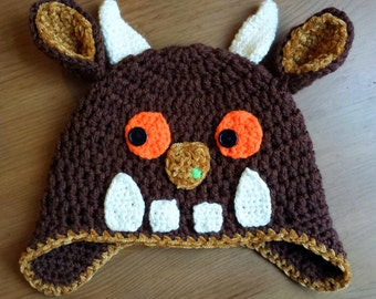 Crochet hat,gruffalo hat,Gruffalo costume,Kids gruffalo hat,gruffalo ,book day,fancy hat,gruffalo bonnet,adult gruffalo hat,baby gruffalo