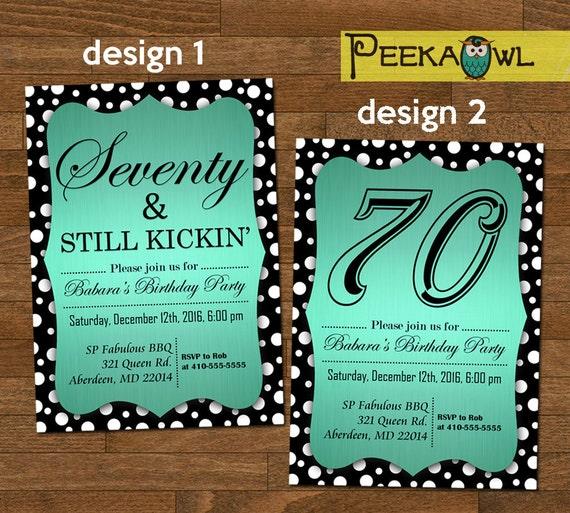 Printable 70th birthday invitation card seventy still like this item filmwisefo Images