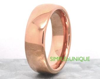 Tungsten Rose Gold, Rose Gold Ring, Mens Wedding Band Rose Gold, Rose Gold Wedding Ring, Mens Rose Gold Ring, Wedding Ring, Mens Tungsten