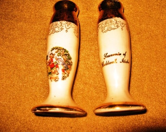 Elegant salt and pepper shakers
