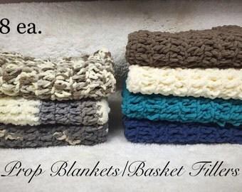 Crochet Prop Blanket, Mini Blanket, Filler Blanket