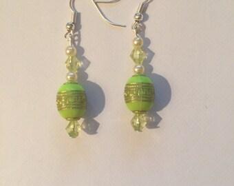 Green lime earrings