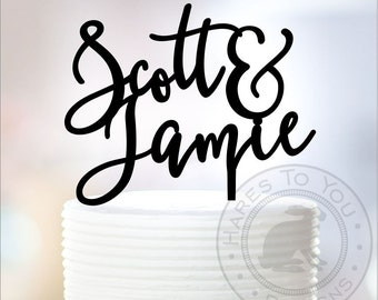 First Name Wedding Cake Topper 11-403 Personalized with First Names of Bride and Groom