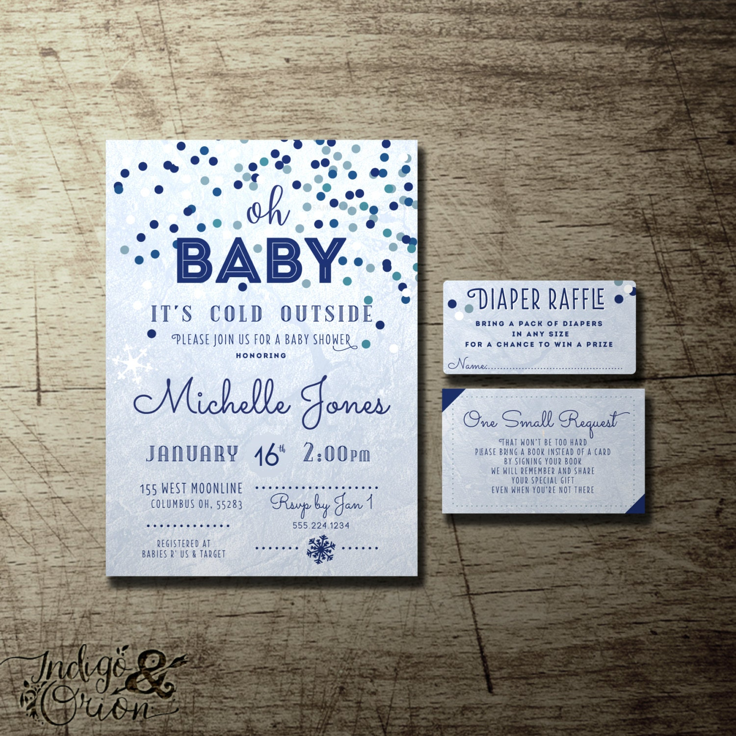 Oh Baby it\'s cold outside baby shower invitations winter baby shower ...