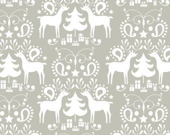 Grey Rudolph fabric by Blend