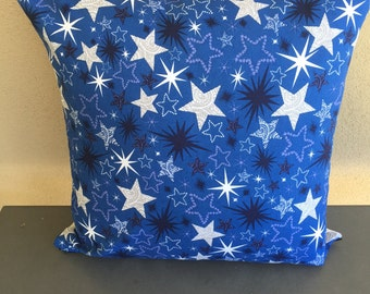Stars on Blue Cushion Cover