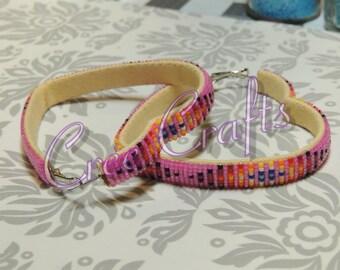 3 Inch wrapped Heart Shape Hoop Earrings