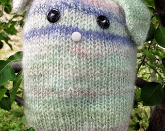 Hand Knit Wool Stuffed Bunny Rabbit Toy for Babies and Kids!
