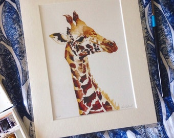A LIMITED Edition Giclee Print of 'Gonzo' the Giraffe