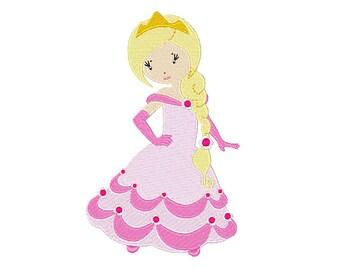 Princess Abigail Machine Embroidery Design