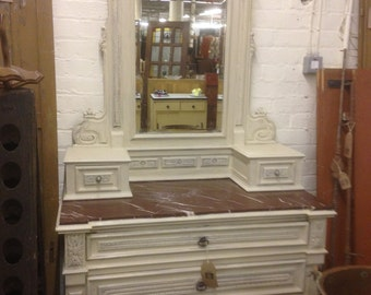 Vintage French Henri Style Dressing Table Painted in Annie Sloan