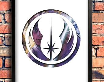 Star Wars Logo Art - Jedi Logo - Luke Skywalker