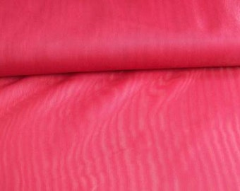 "Red Fabric 135cm (54"") wide voile polyester"