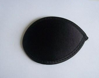 """Black hat base teardrop satin 4.5"""" (11cm)"""