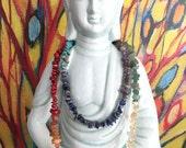 SALE Handmade Chakra Stone Necklace/Wrap Bracelet for balance & energy, reiki healing, yoga, meditation