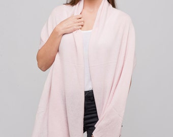 Pink Cashmere Wrap/Light Pink 100% Cashmere Wrap/Light Pink Cashmere Scarf