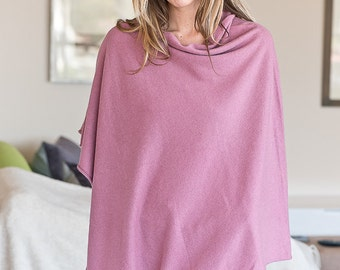 ON SALE! Dusty Pink 100% Cashmere Poncho